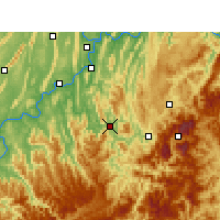 Nearby Forecast Locations - Qijiang - Carta