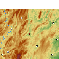 Nearby Forecast Locations - Xiushan - Carta