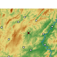 Nearby Forecast Locations - Jishou - Carta