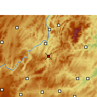 Nearby Forecast Locations - Shiqian - Carta