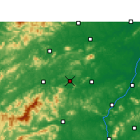 Nearby Forecast Locations - Fenyi - Carta