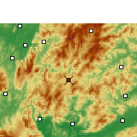 Nearby Forecast Locations - Rucheng - Carta