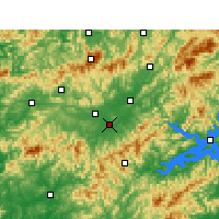 Nearby Forecast Locations - Tunxi - Carta
