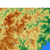 Nearby Forecast Locations - Taishun - Carta