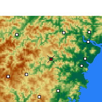 Nearby Forecast Locations - Wencheng - Carta