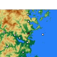 Nearby Forecast Locations - Lianjiang - Carta