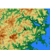 Nearby Forecast Locations - Yongtai - Carta