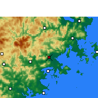 Nearby Forecast Locations - Putian - Carta