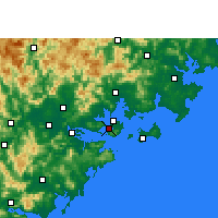 Nearby Forecast Locations - Xiamen - Carta