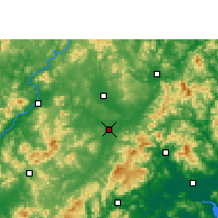 Nearby Forecast Locations - Wuhua - Carta