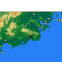 Nearby Forecast Locations - Huilai - Carta