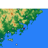 Nearby Forecast Locations - Dongshan - Carta