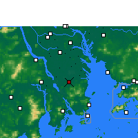 Nearby Forecast Locations - Zhongshan/GUD - Carta