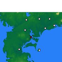 Nearby Forecast Locations - Zhanjiang - Carta