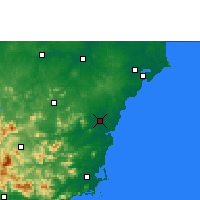 Nearby Forecast Locations - Qionghai - Carta