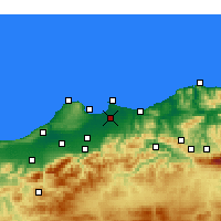 Nearby Forecast Locations - Algeri - Carta