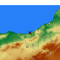 Nearby Forecast Locations - Ghazaouet - Carta