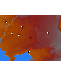 Nearby Forecast Locations - Kakamega - Carta