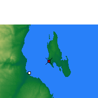 Nearby Forecast Locations - Zanzibar - Carta