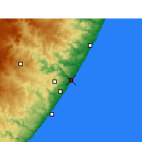 Nearby Forecast Locations - Port Shepstone - Carta
