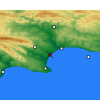 Nearby Forecast Locations - Port of Ngqura - Carta