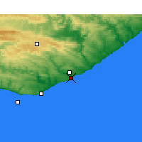 Nearby Forecast Locations - Port Alfred - Carta
