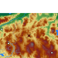 Nearby Forecast Locations - Santa Rosa de Copán - Carta