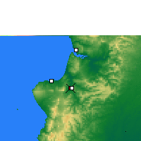 Nearby Forecast Locations - Portoviejo - Carta