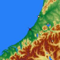 Nearby Forecast Locations - Hokitika - Carta