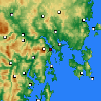 Nearby Forecast Locations - Hobart - Carta