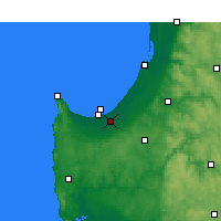 Nearby Forecast Locations - Busselton - Carta
