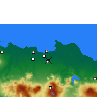 Nearby Forecast Locations - Giacarta - Carta