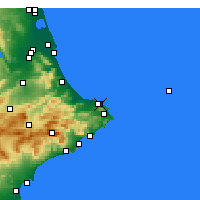 Nearby Forecast Locations - Dénia - Carta