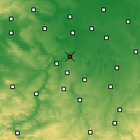 Nearby Forecast Locations - Weißenfels - Carta
