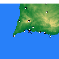 Nearby Forecast Locations - Praia da Rocha - Carta