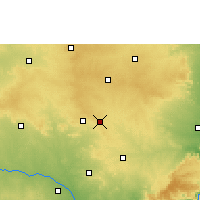 Nearby Forecast Locations - Badepalle - Carta