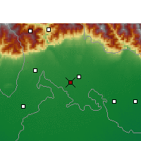 Nearby Forecast Locations - Jalpaiguri - Carta