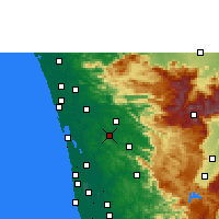 Nearby Forecast Locations - Muvattupuzha - Carta