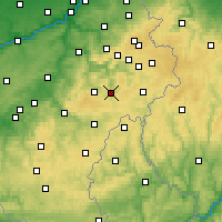 Nearby Forecast Locations - Vielsalm - Carta