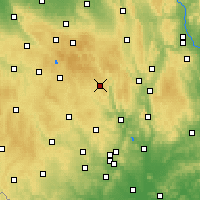 Nearby Forecast Locations - Bystřice nad Pernštejnem - Carta