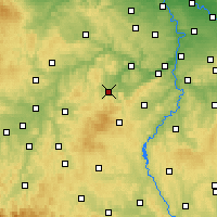 Nearby Forecast Locations - Hořovice - Carta