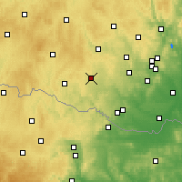 Nearby Forecast Locations - Moravské Budějovice - Carta