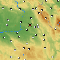 Nearby Forecast Locations - Týniště nad Orlicí - Carta