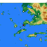 Nearby Forecast Locations - Turgutreis - Carta