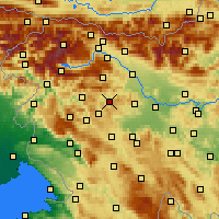 Nearby Forecast Locations - Gorenja vas-Poljane - Carta