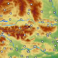 Nearby Forecast Locations - Mežica - Carta