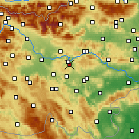 Nearby Forecast Locations - Šmartno pri Litiji - Carta