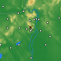 Nearby Forecast Locations - Budakeszi - Carta