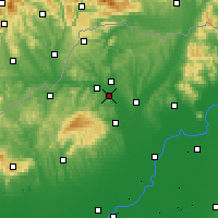Nearby Forecast Locations - Sajószentpéter - Carta