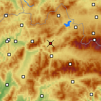 Nearby Forecast Locations - Dolný Kubín - Carta